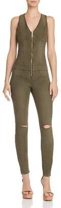 GUESS Maxine Zip-Front Denim Jumpsuit