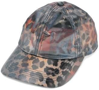 Doublet leopard print baseball cap