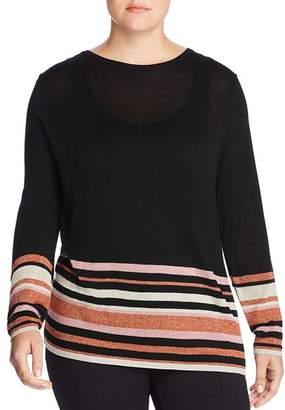Junarose Plus Mirah Metallic Striped Sweater