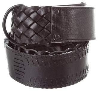 Kaufman Franco KAUFMANFRANCO Woven Leather Waist Belt