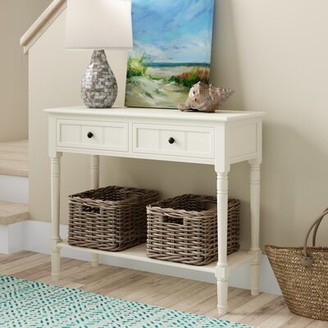 """Beachcrest Home Manning 35.8"""" Solid Wood Console Table"""