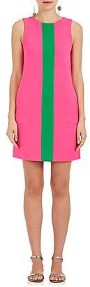 Lisa Perry WOMEN'S STRIPED WOOL SHIFT DRESS - PINK/GREEN SIZE 2