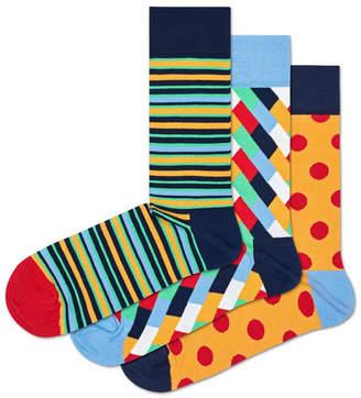 Happy Socks Assorted Big Dot 3-Pack Socks