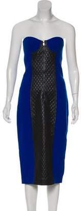 Michael Kors Virgin Wool Strapless Dress