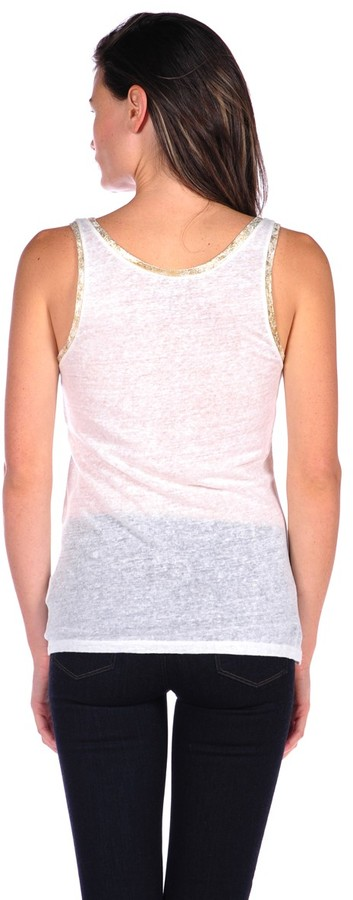 Majestic Linen Tank with Metallic Trim
