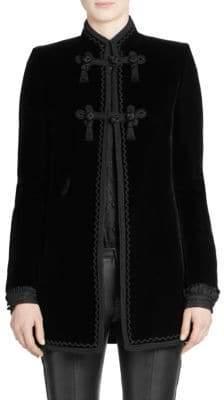 Saint Laurent Embroidered Velvet Blazer