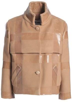 Moschino Coated Wool Jacket