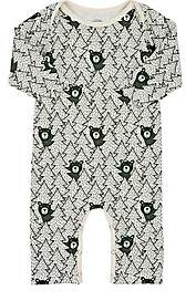 Factory Winter Water Infants' Bear-Print Cotton Coverall-Green