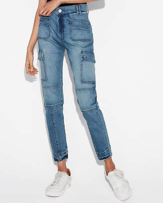 Express High Waisted Seamed Stretch+ Cargo Vintage Skinny Jean