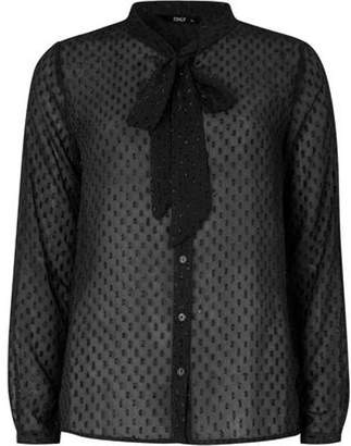Dorothy Perkins Womens **Only Black Woven Bow Top