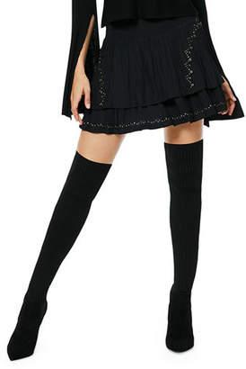 Ramy Brook Adelaide Tiered Embellished Mini Skirt