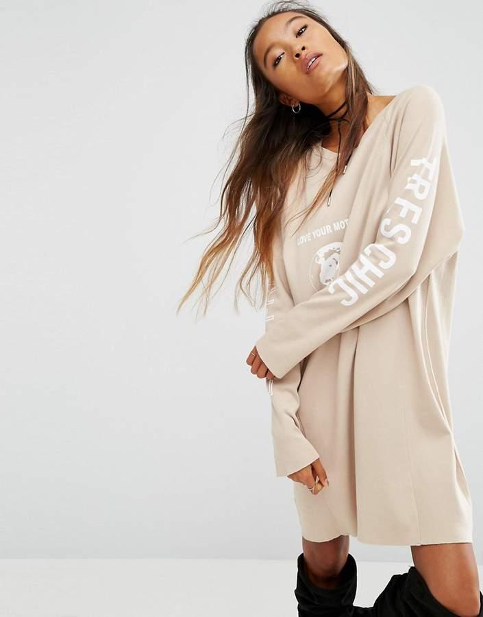 AsosASOS ECO Sweat Dress with Love Your Mother Print