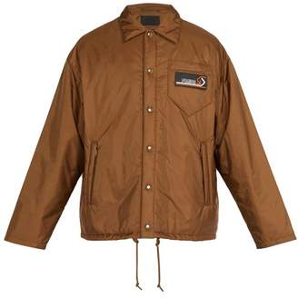 Prada Press Stud Nylon Coach Jacket - Mens - Brown