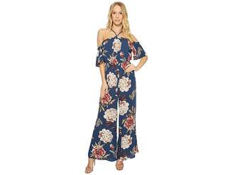 American Rose Lily High Neck Off the Shoulder Jumper Women's Jumpsuit & Rompers One Piece