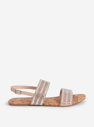 e7db1e98967b Dorothy Perkins Womens Wide Fit Silver  Funk  Flat Sandals