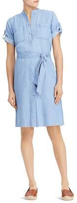 Lauren Ralph Lauren Short-Sleeve Denim Shirt Dress