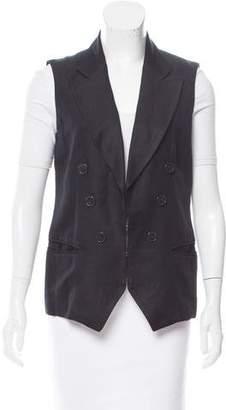 Etoile Isabel Marant Peaked-Lapel Linen Vest