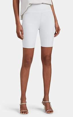 5bfc082e76 Sprwmn Women's Stretch-Lambskin Biker Shorts - White