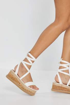 b18f2fe62 Nasty Gal Enough With the Cork Platform Sandals