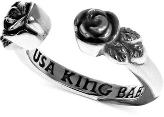 King Baby Studio Women's Rose Cuff Ring in Sterling Silver
