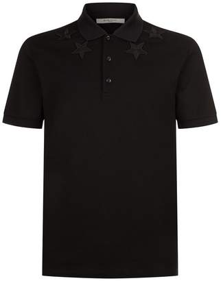 Givenchy Star Embroidered Polo Top