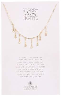 Dogeared Dripping Crystal Bezel Set Dangle Necklace