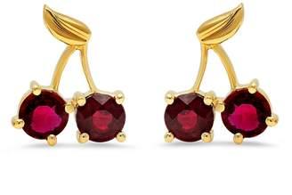 Established Cherry Stud Earrings