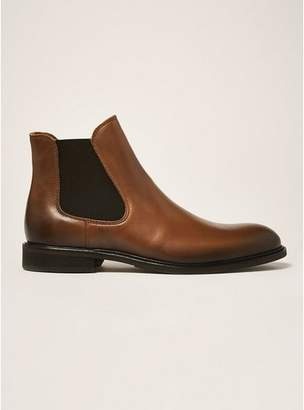 Topman Mens Brown SELECTED HOMME Tan Leather Baxter Chelsea Boots