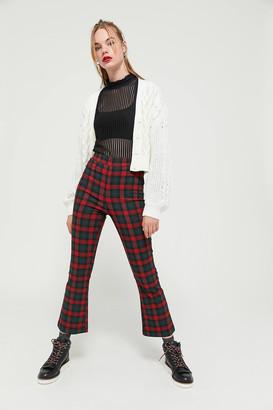 Urban Outfitters Lola Plaid Kick Flare Pant
