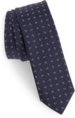 Eleventy Paisley Silk Tie