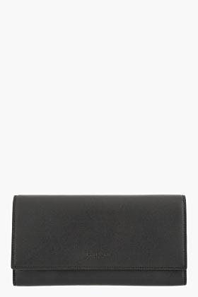 Saint Laurent Black leather pfd continental wallet