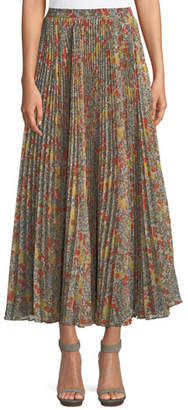 Alexis Phylicia Pleated Floral Maxi Skirt