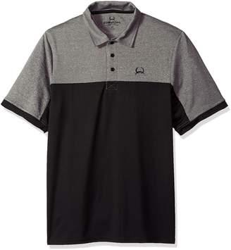 Cinch Men's Arenaflex Polo Shirt, Black/Grey, XL