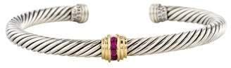 David Yurman Ruby Cable Classics Bracelet