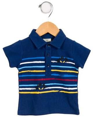 Fendi Boys' Striped Monster Shirt