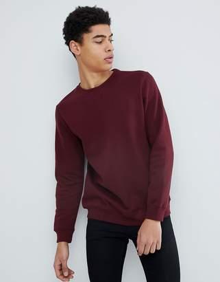 Pull&Bear Sweatshirt In Burgundy