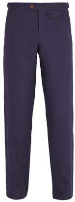 Oliver Spencer Linton Linen Trousers - Mens - Navy