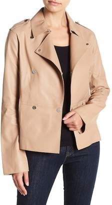 Soia & Kyo Collared Leather Jacket