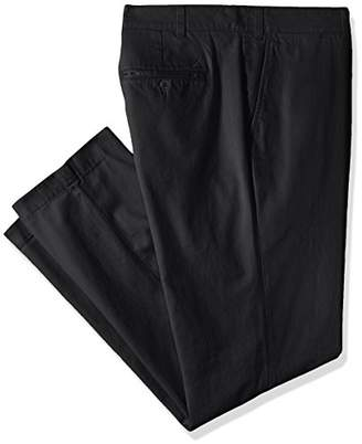 Nautica Men's Big and Tall Twill Flat-Front Pant