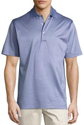 Peter Millar Wink Jacquard Cotton Lisle Polo Shirt $98 thestylecure.com