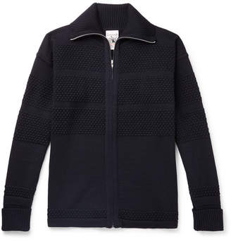 S.N.S. Herning Fisherman Merino Wool Zip-Up Cardigan