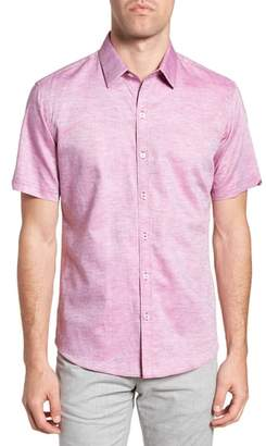 Zachary Prell Wilcox Regular Fit Dobby Sport Shirt