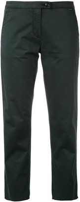 Woolrich slim-fit cropped trousers $160.22 thestylecure.com