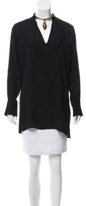 Valentino Long Sleeve Silk Tunic