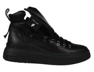 Cinzia Araia Oversized Tongue Hi-top Sneakers