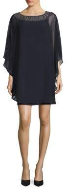 Xscape Evenings Embellished Chiffon Cape Dress