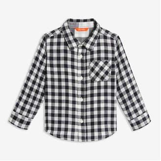 Joe Fresh Toddler Boys' Plaid Shirt, Black (Size 5)