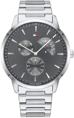 Tommy Hilfiger Brad Silvertone Stainless Steel 1710385 Chronograph Watch