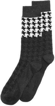 Bar III Men's Houndstooth Socks, Created for Macy's