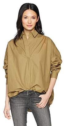 French Connection Women's Rhodes Polin Light Weight Long Sleeve Oversized Shirt